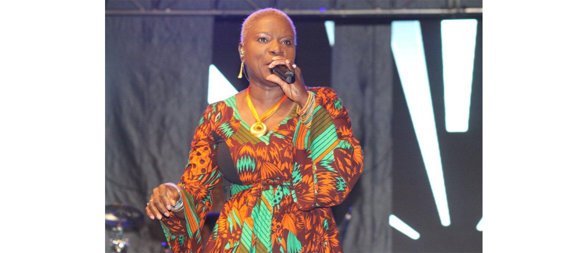 Angelique Kidjo Perfoming at the Mapungubwe Jazz and Heritage Festival