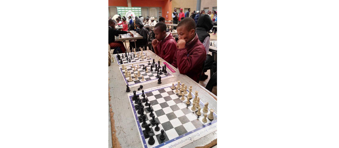 CHESS TEAM IN COMPETITION DURING THE 2017 SCHOOL SPORT WINTER GAMES IN POLOKWANE