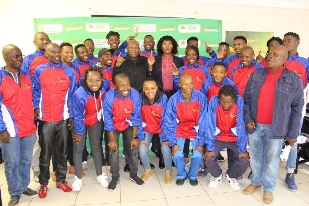 MEC Thandi Moraka Sends of Provincial Volleyball team to the National Volleyball Leagues at a Ceremony held in Polokwane