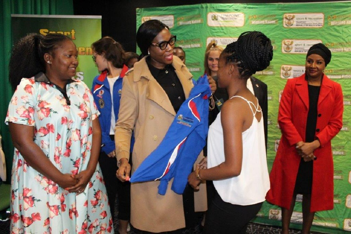 MEC Thandi Moraka and MEC Thabo Mokone  For Economic Development and Tourism sends off U/19 Netball teams to represent the province at the Netball Tournament to take place from 20 to 29 June in Cape Town in preparation towards 2023 Netball World Cup