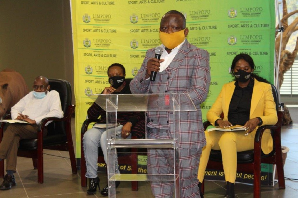 MEC Thandi Moraka hosts Jerusalema Hitmaker Kgaogelo Moagi popularly known as Master Kg as he shares his achievements with his home Province of Limpopo