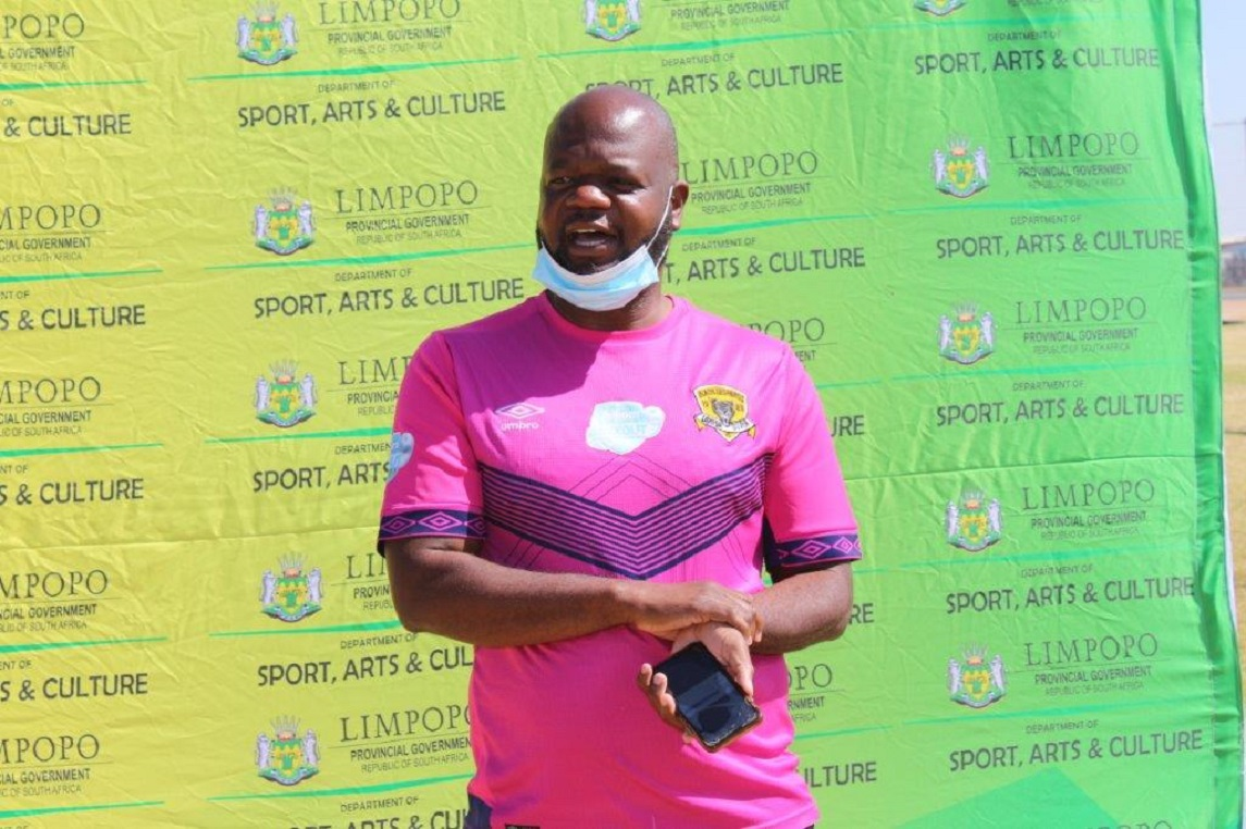 MEC Thandi Moraka visits Limpopo PSL Teams to monitor Covid19 Health Regulations compliance ahead of the League resume. Baroka FC and Black Leopards were presented with Masks, Sanitisers and Thermometers