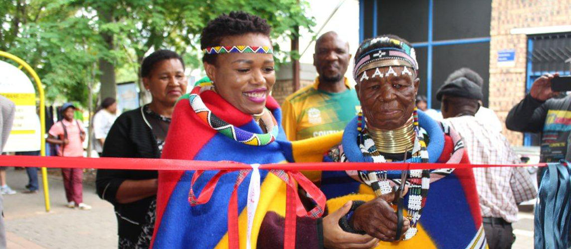 Mapungubwe Arts and Craft Flea Market officially opened by the Mec Onicca Moloi and Gogo Esther Mahlangu