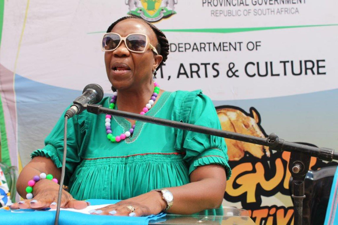 MEC Thandi Moraka officially unveils the 2019 Mapungubwe Arts and Cultural Festival activities during a Media Launch held at Mapungubwe World Heritage Site in Musina
