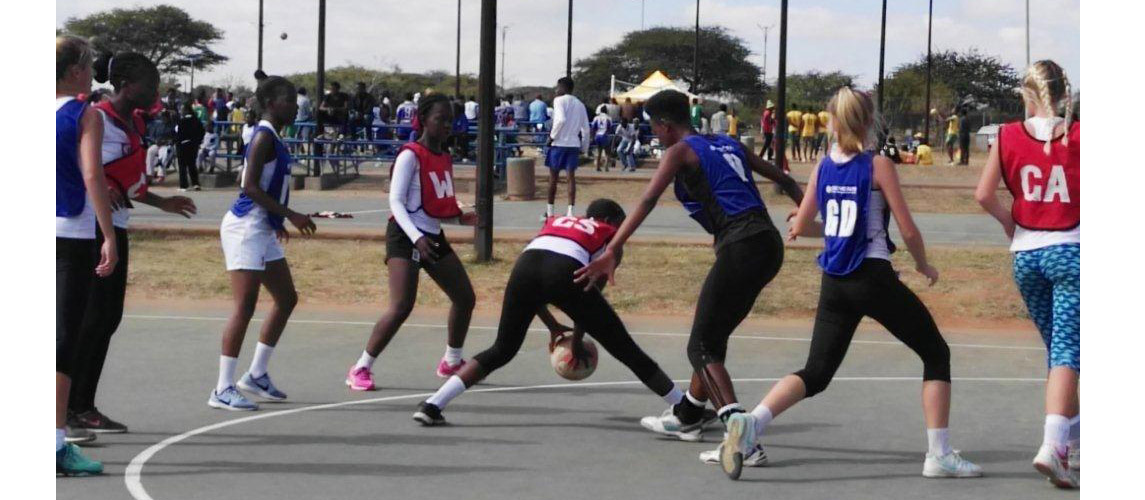 Netball team in action during the School Sport Winter Games 2017 in Polokwane