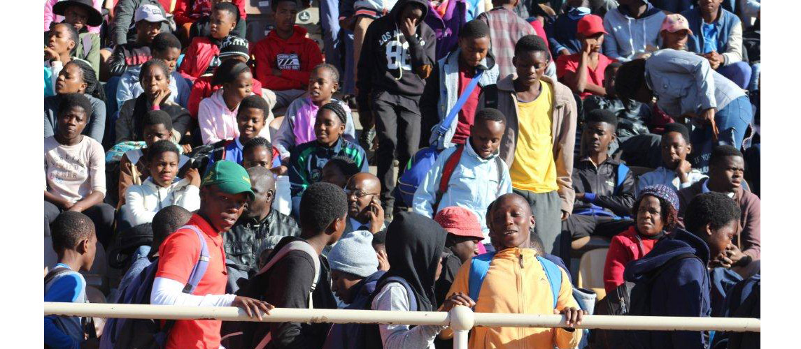 School leaners came in numbers to attend the official opening ceremony for School Sport Winter Games at Peter Mokaba Stadium