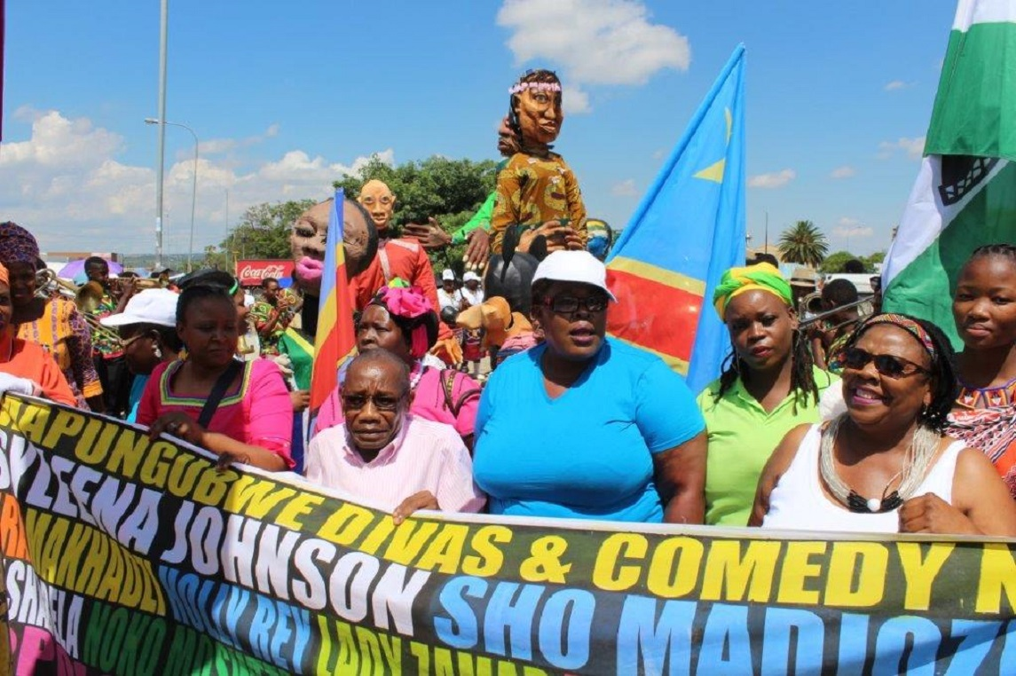 Mapungubwe Street Carnival held from SABC Park to Jack Botes Park to sugnal the beginning of the 2019 Mapungubwe Arts and Cultural Festival