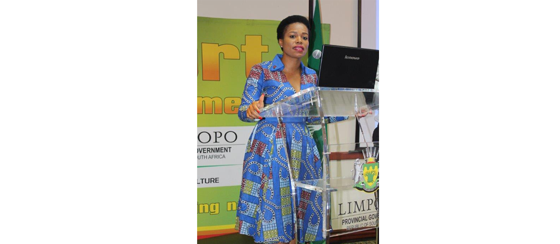 Mec Onicca Moloi outlining the state of Sport in the Province during Limpopo Sport Symposium held at The Ranch recently