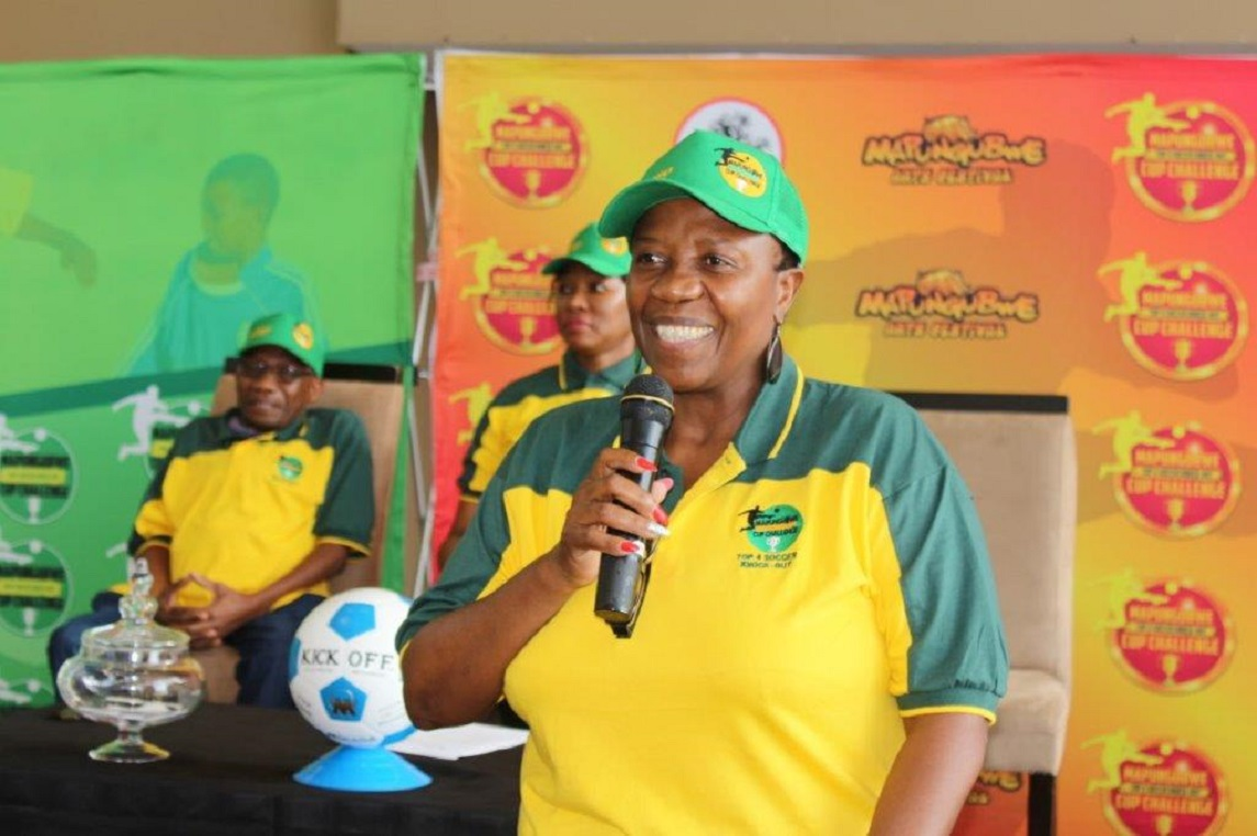 MEC Thandi Moraka Launch Mapungubwe top 4 Knock Out Soccer Challenge to take place at Seshego stadium on the 16th of December.