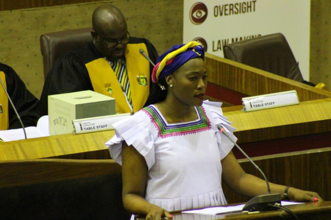MEC Thandi Moraka tables the Departmental 2019/2020 Budget Vote at the Limpopo Legislature in Lebowakgomo